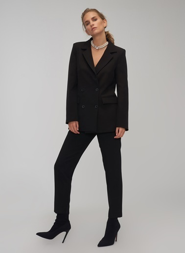 People By Fabrika Yüksek Bel Pantolon Siyah